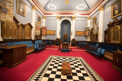 Inside Jersey Masonic Temple